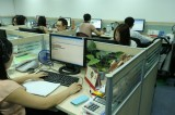 RK sales staff working OFFICE