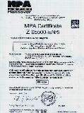 MPA CERTIFICATE Z-05500