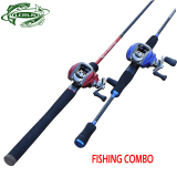 High carbon lure fishing rod and baitcasting reel