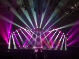 Performance show with stage light effect