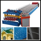 servo motor glazed roofing tile roll forming machine