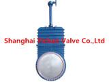 Manual knife gate valve