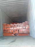 Rack loading into container