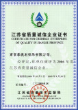 Nanjing Quality Management Award Certificate