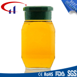 Cylinder Glass Jar with Metal Casing (CHJ8007)
