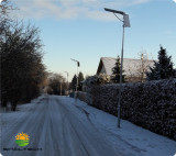 Brundi project integrated solar street light