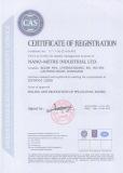 Nano-Metre Insutrial LTD. ISO9001:2008
