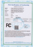FCC certification of CC-01