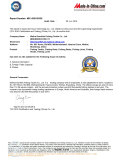 TUV fishing tackle certificate