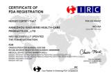 FDA certificate