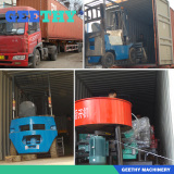 forklift and mixer