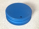 Plastic cap for nodular cast iron