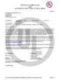 cULus Certificates