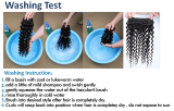 Washing test for 100% pure virgin hair
