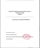 productscompleted operations liability--FOR USA MARKET