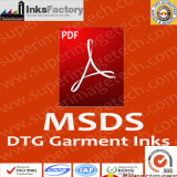DTG Printers Garment Inks MSDS