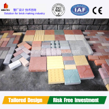 Fully automtic concrete interlocking brick machine price