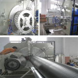 PE Hollow Winding Pipe Machine