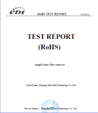 ROHS certification on tube connectors