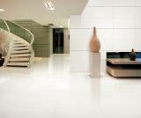 super white polished tile