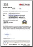SGS Certificate - 2014