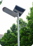 Integrated Solar street light in Belgium