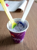 New Type Color changing Plastic spoon, Ice cream Spoon