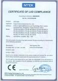 Certificate OF LVD COMPLIANCE
