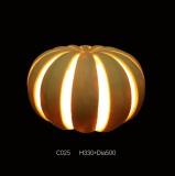 Outdoor Sandstone Sculpture Pumpkin LED Light Lantern