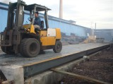 Engineer install 3x9m50ton truck scale in Indonesia