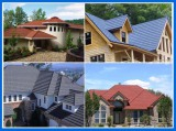 Good Heat Radiation Feature Sand Coated Metal Roof Tiles