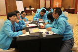 Group Learning and Discussing Dongfang Staffs