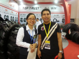 with our client at Guangda Tire Show in Shanghai