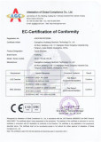 CE certificate for the ozone sterilizer