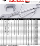 Raised panel combination wrench