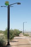 Flexible solar panel for LED lighting application