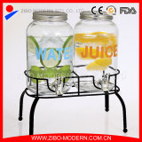 Wholesale cheap drink beverage dispenser glass with stand