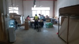 Woodworking workers are in production