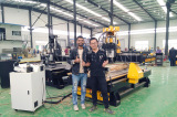 Customer from Nepal came to our factory to inspect his machine