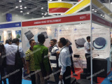Jinmeng Exhibition at Asia Water displaing SMC MANHOLE COVER
