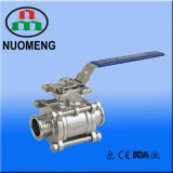 Sanitary Stainless 3PCS Clamped Vall Valve with high platform