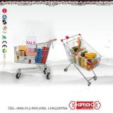 Metal Hypermarket Supermarket Shopping Trolley Cart