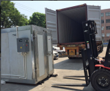 Powder Coating Booth and Electric Curing Oven Loading From Our Factory to Germany