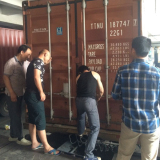 Customer Visiting Load Goods Container