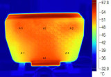 800w Radiator temperature were uniform distrabution with Thermal Imager test