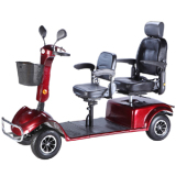 4 wheel hot sell electric scooter with 2 seats
