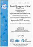 ISO 9000:2015 quality management systems certificate