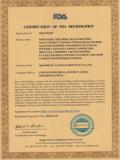 FDA Certificatoin