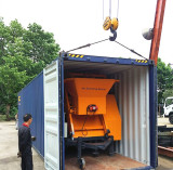 Packing Electric Trailer Concrete Mixer Pump To Africa
