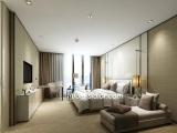 CL8007 modern king size wooden beddroom furniture for hotel